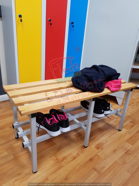 Terrific Gym Bench With Wooden Seats Width 100 Cm Theyellowbook Wood Chair Design Ideas Theyellowbookinfo