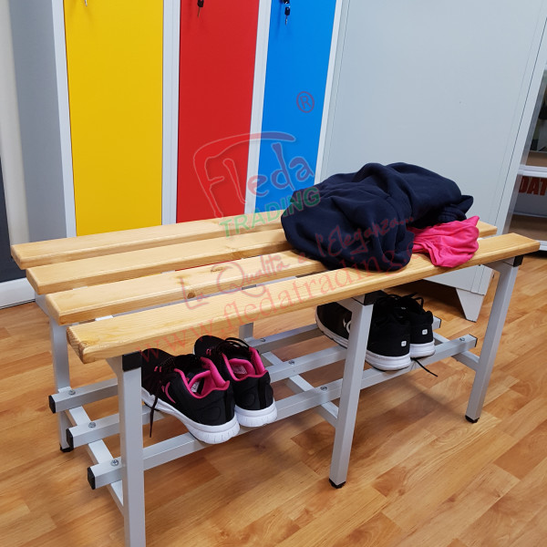 Gym Bench With Wooden Seats Width 100 Cm